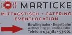 Freizeitzentrum FEMA Colditz - Marticke Partyservice - Imbiss, Bowling, Kegeln und Events